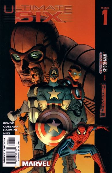The Cover art for Issue 1 of Ultimate Six