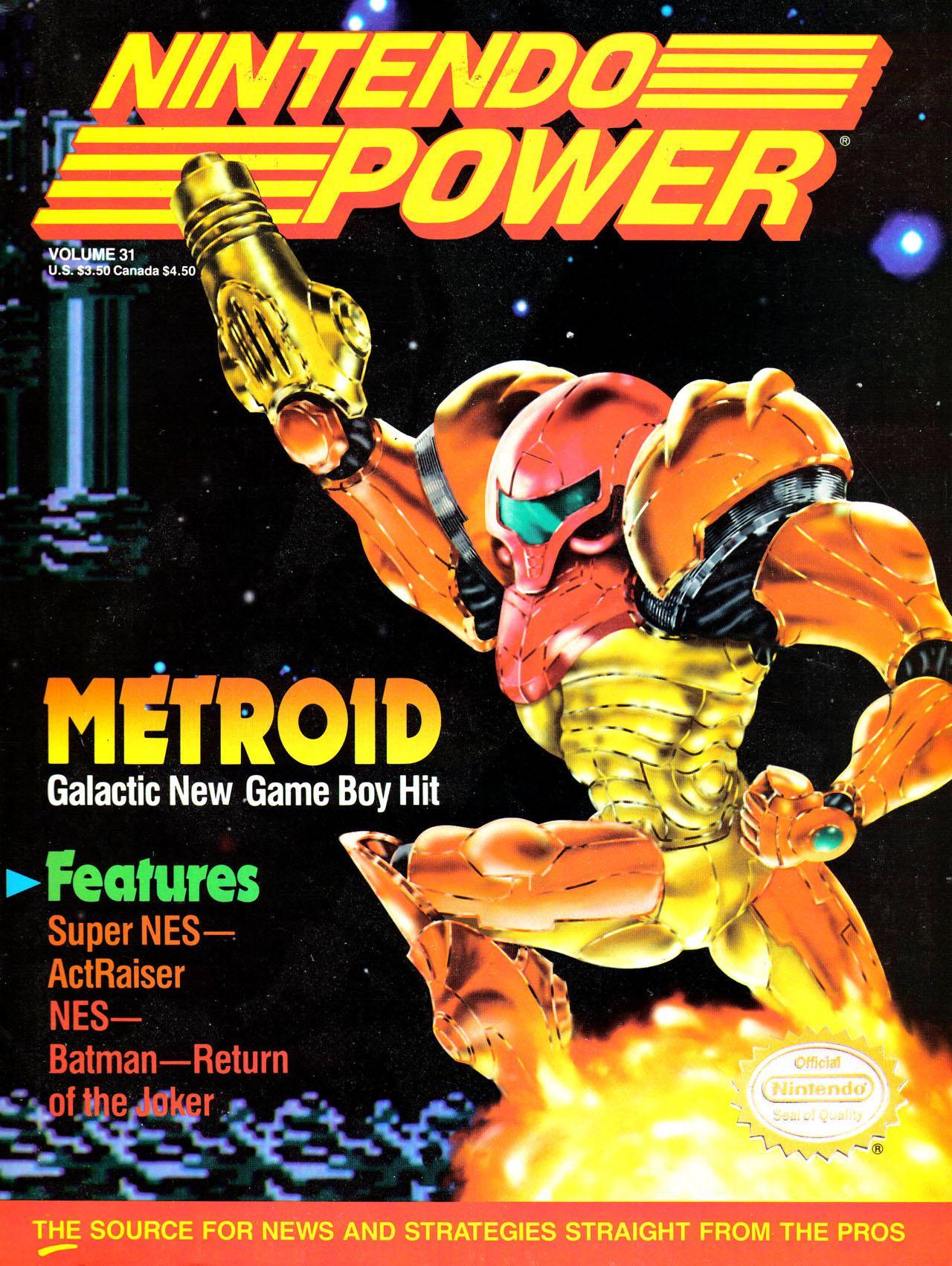 Cover for Nintendo Power 31