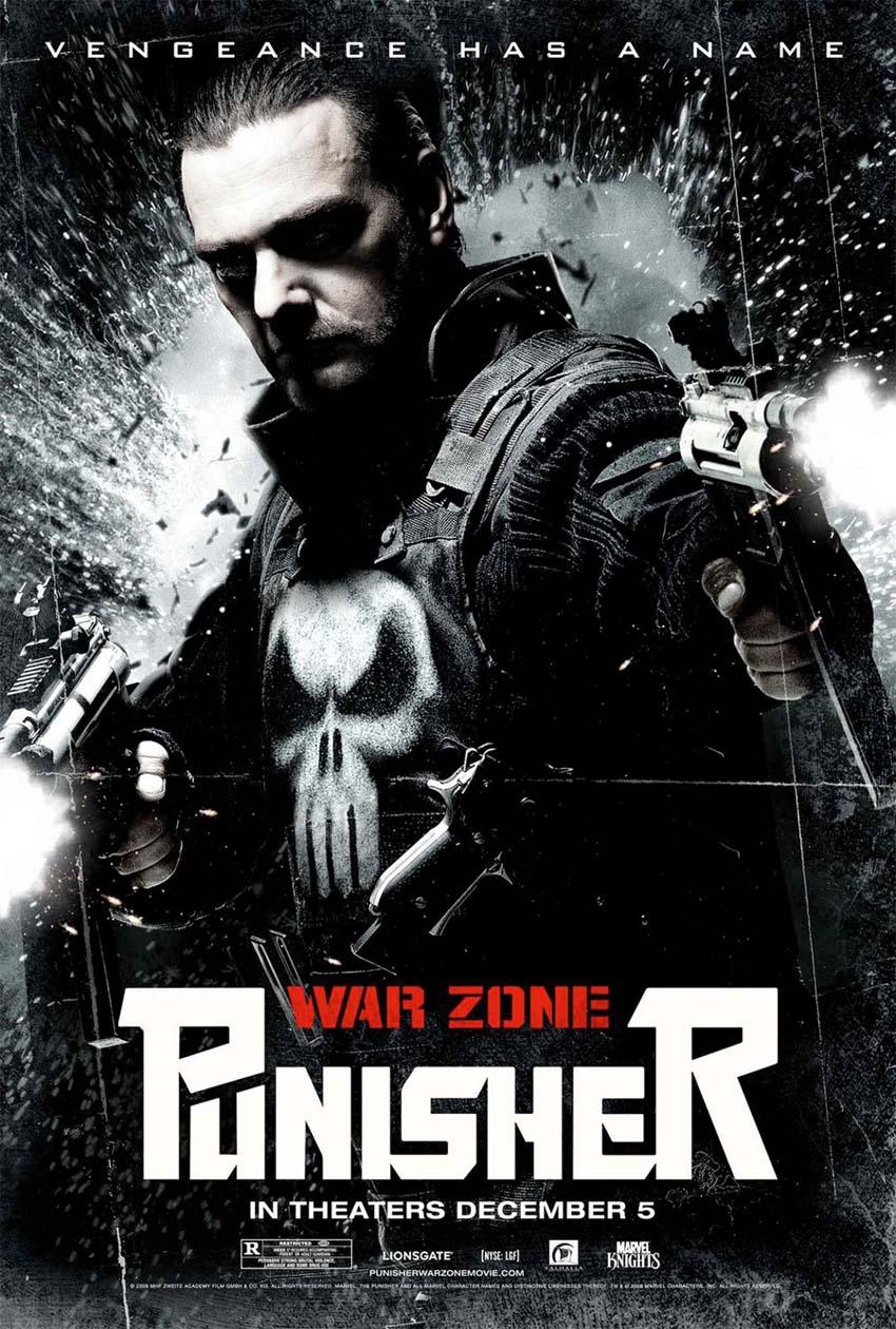 Punisher: War Zone movie poster.