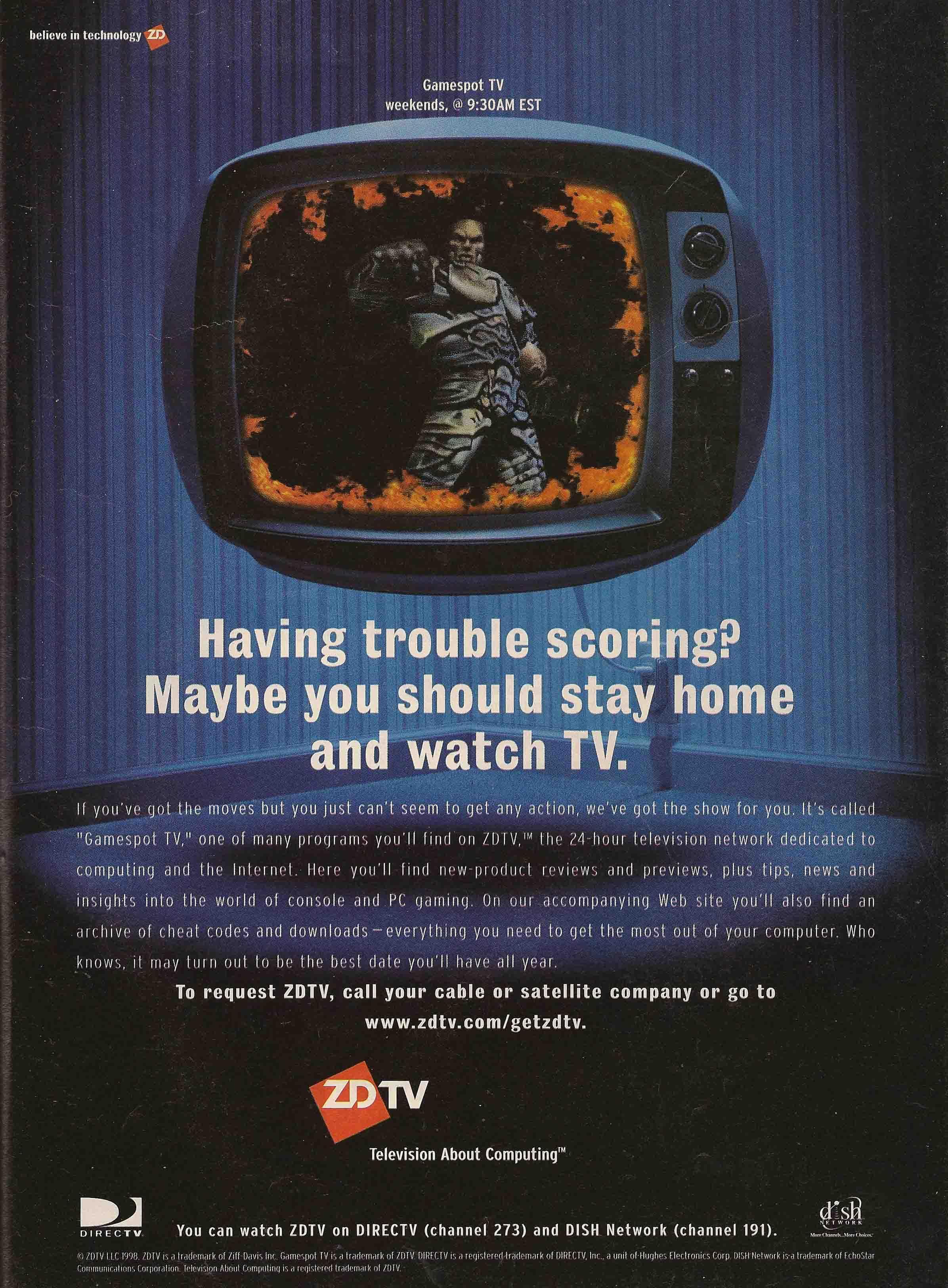 Ad for Gamespot TV on ZD (Ziff-Davis) TV
