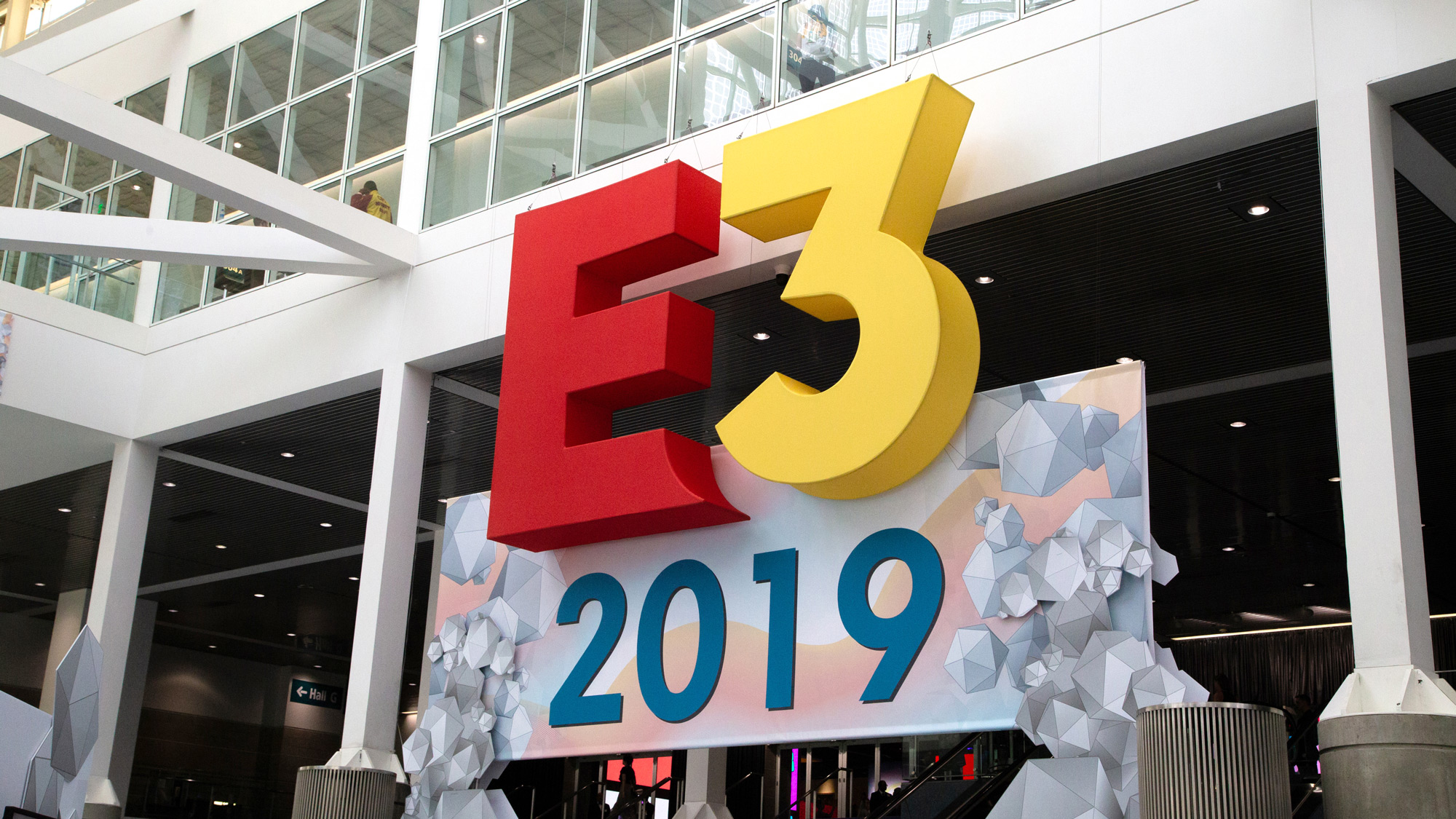 A sign from in front of E3 2019.