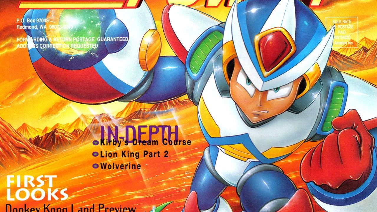 Snippet of the cover of Nintendo Power #69 showing X from Mega Man X2.