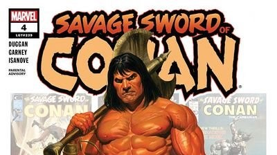 Top portion of the cover to Savage Sword of Conan #4