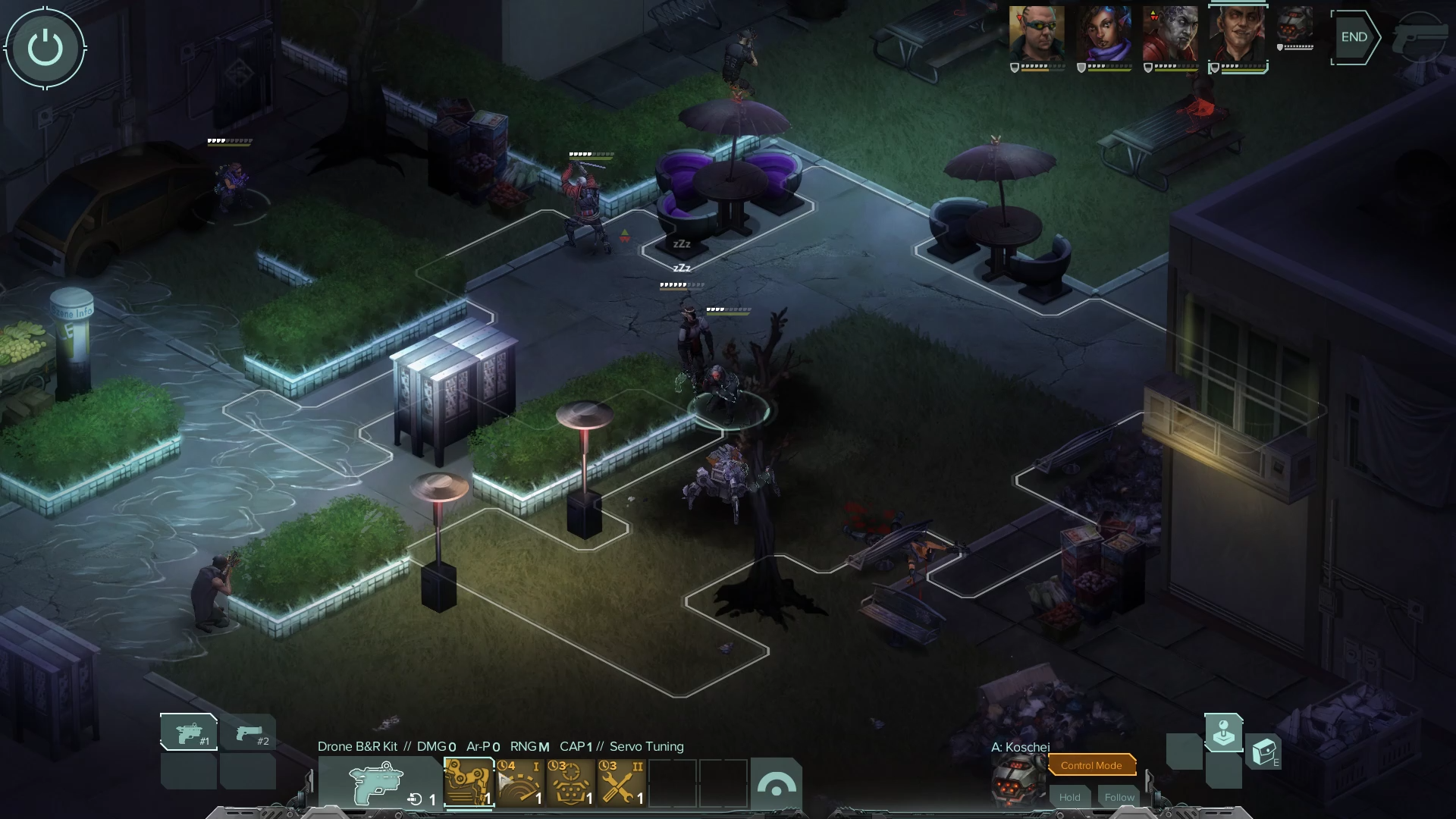Screen shot of the game's combat.