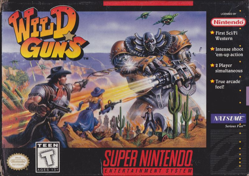 Wild Guns SNES Box Art