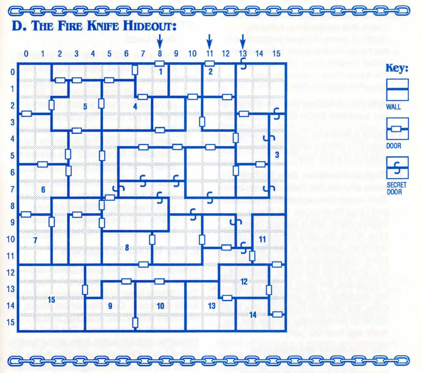 Map of the Fire Knife Hideout from the Cluebook