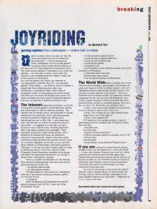Joyriding article about newsgroups.