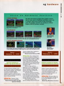 Sample screen shots of N64 output from Silicon Graphics workstation emulator.