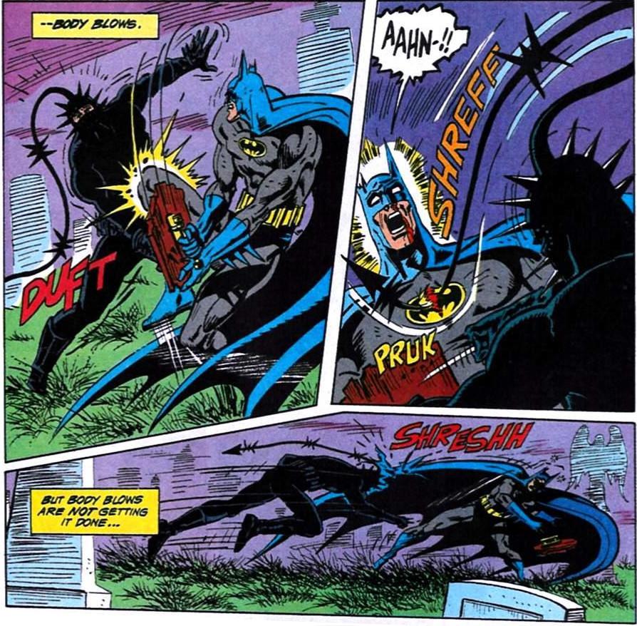 Batman fights Metalhead