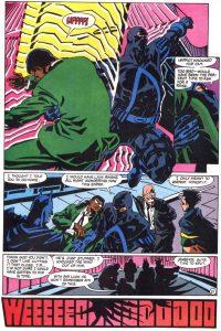 Azrael saves Lucius Fox.