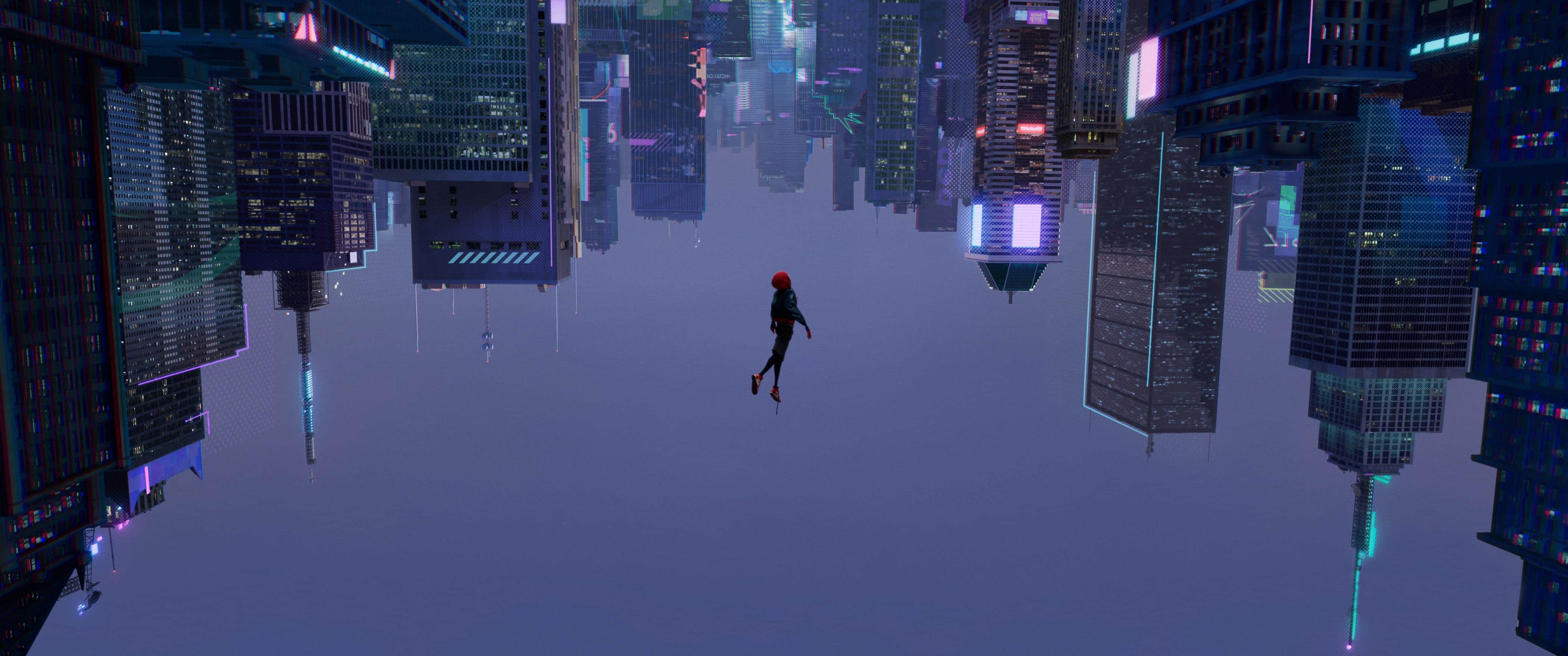 Miles Morales taking a leap of faith.