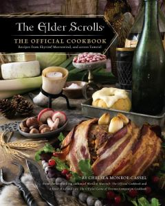 The book cover for The Elder Scrolls cookbook.