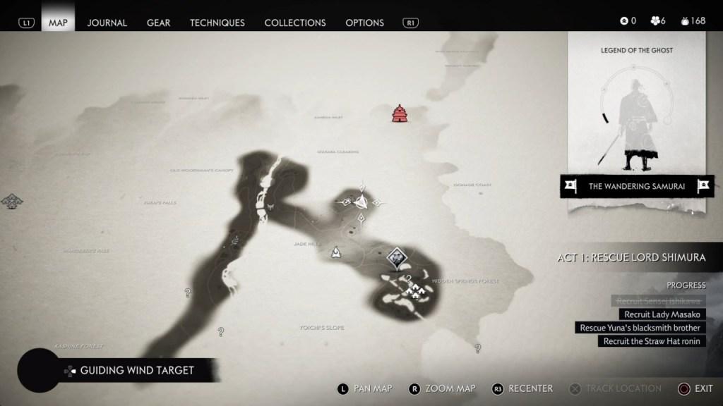 Ghost of Tsushima's World Map