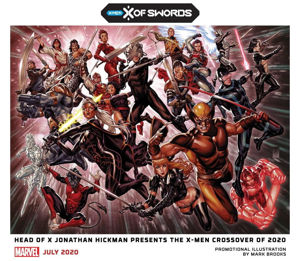 Promo image for X of Swords. Professor X doesn't actually take part in this event.