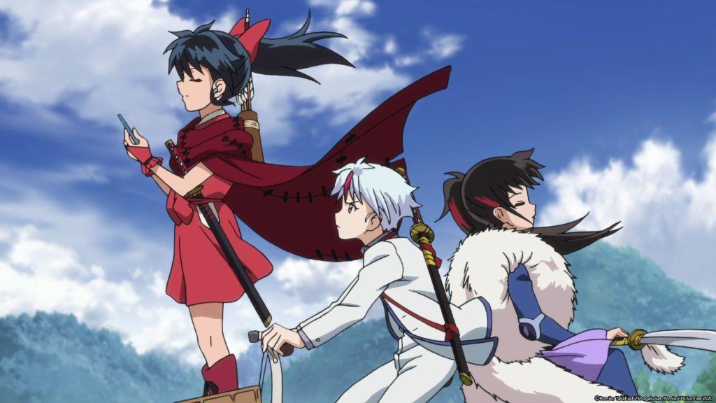 The main characters of Yashahime - Moroha, Towa, and Setsuna.