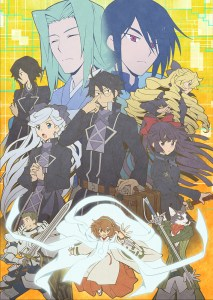 The main members of the Akiba cast in Log Horizon: Destruction of the Round Table