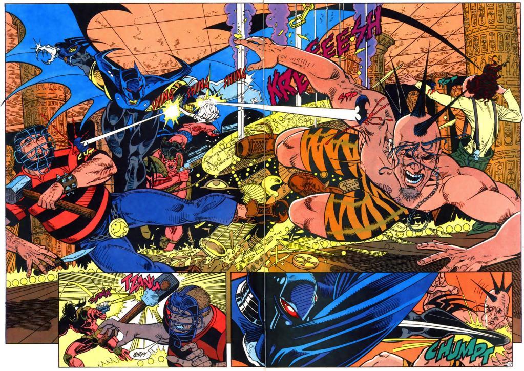 Batman and Ballistic take down The Stooges.