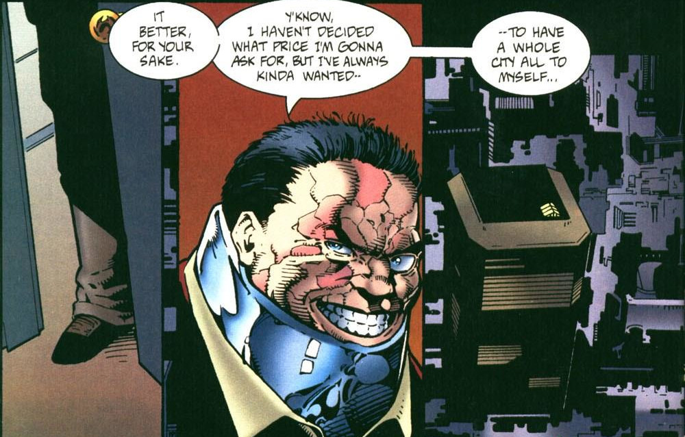 Jigsaw boasts about having complete control of the city after his plan is complete.
