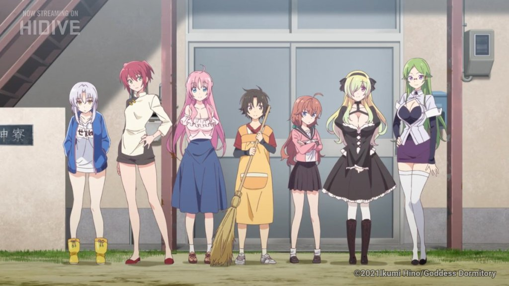 The lead characters of Mother of the Goddess' Dorm